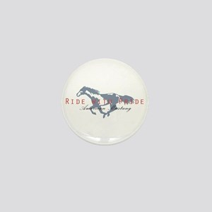 Mustang Horse Mini Button
