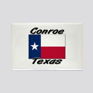 Conroe Texas Rectangle Magnet