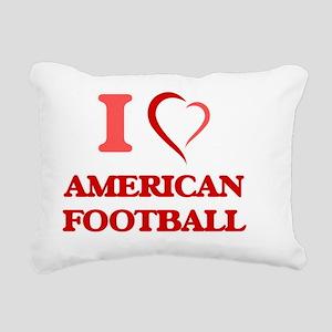 I Love American Football Rectangular Canvas Pillow