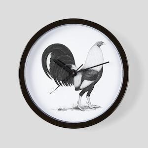 Grey American Gamecock Wall Clock