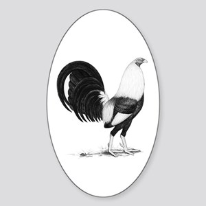 Grey American Gamecock Sticker (Oval)