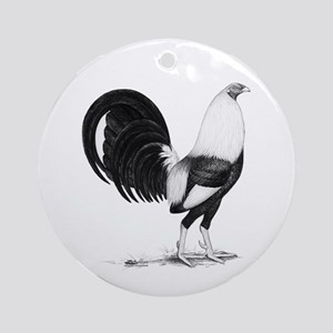 Grey American Gamecock Ornament (Round)