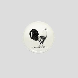 Grey American Gamecock Mini Button