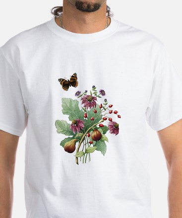 Fig and Rosehip Bouquet White T-Shirt