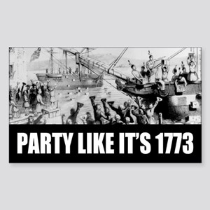 1773 Tea Party Rectangle Sticker