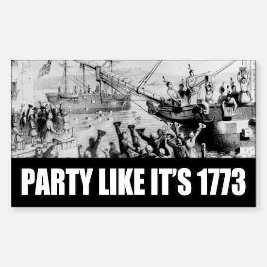 1773 Tea Party Rectangle Decal