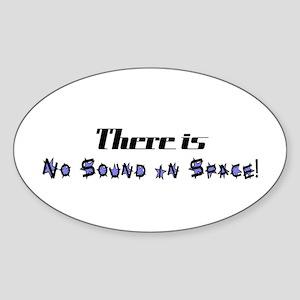 No Sound in Space Oval Sticker