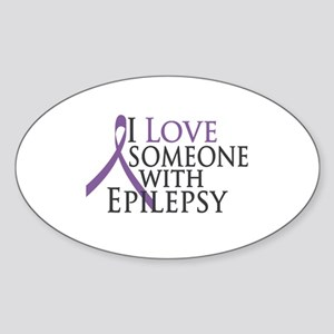 Love Someone with Epilepsy Oval Sticker