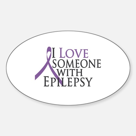 Love Someone with Epilepsy Oval Decal