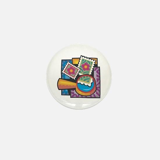 Stamp Collector Mini Button