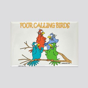 Four Calling Birds Rectangle Magnet