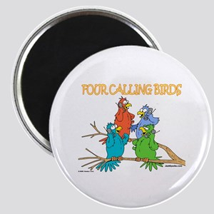 Four Calling Birds Magnet
