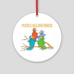 Four Calling Birds Ornament (Round)
