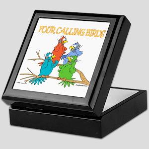 Four Calling Birds Keepsake Box