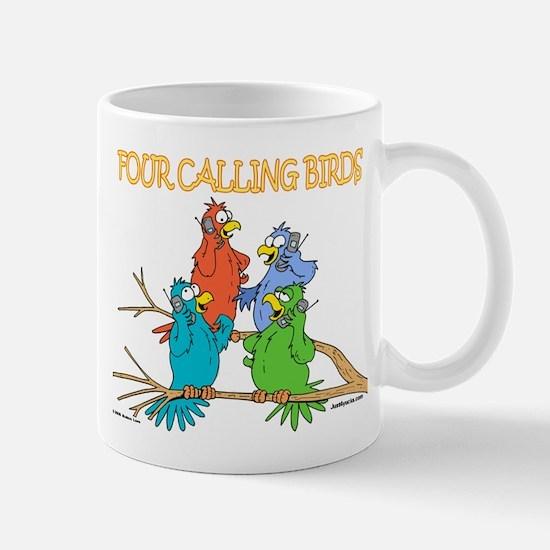 Four Calling Birds Mug