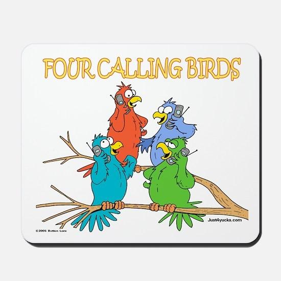 Four Calling Birds Mousepad