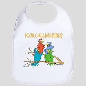 Four Calling Birds Bib
