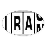 Iraq / Iran Oval Sticker