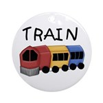 Train Ornament (Round)