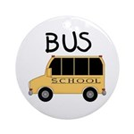 School Bus Ornament (Round)