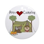 Boys Love Camping Ornament (Round)