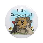 Little Outdoorsman Ornament (Round)