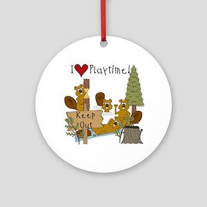 I Love Playtime Ornament (Round)