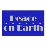 Peace on Earth Rectangle Sticker