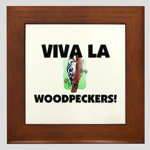 Viva La Woodpeckers Framed Tile