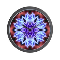 Bachelors Button I-a Wall Clock