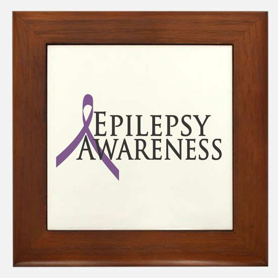 Epilepsy Awareness Ribbon Framed Tile