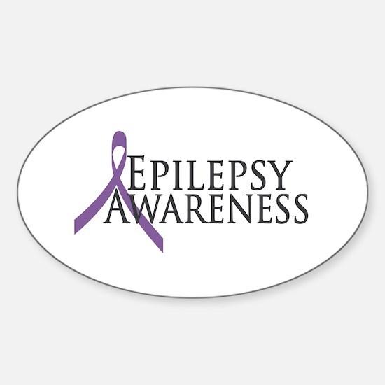 Epilepsy Awareness Ribbon Oval Decal