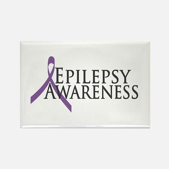 Epilepsy Awareness Ribbon Rectangle Magnet