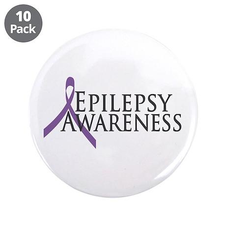 "Epilepsy Awareness Ribbon 3.5"" Button (10 pack)"