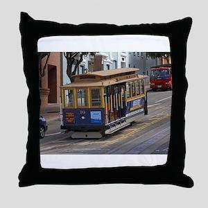 san fran trolley Throw Pillow