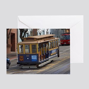 san fran trolley Greeting Card