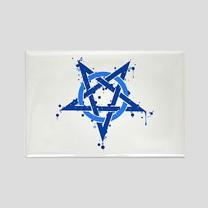 Blue Satanic Spotted Pentagram Magnets