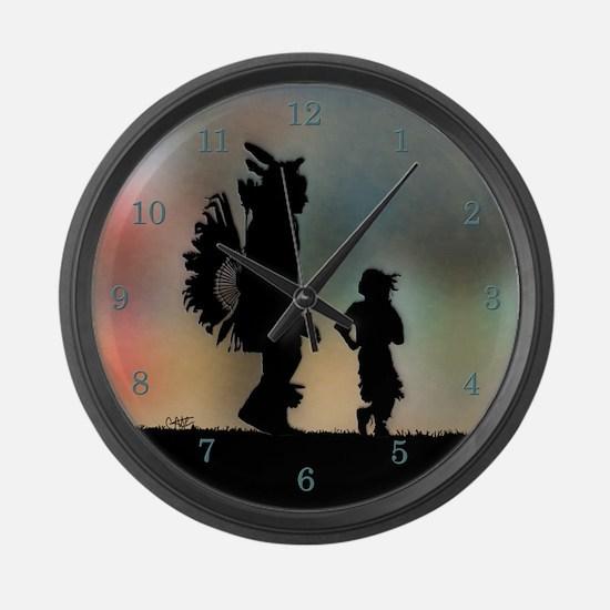 Teach The Children - Large Wall Clock