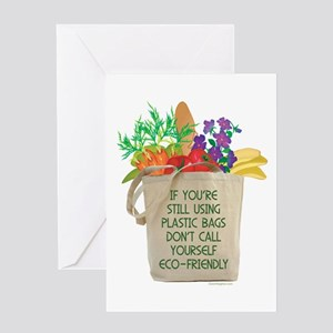 Use Eco-friendly Tote Bags Greeting Card