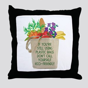 Use Eco-friendly Tote Bags Throw Pillow