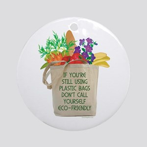 Use Eco-friendly Tote Bags Ornament (Round)