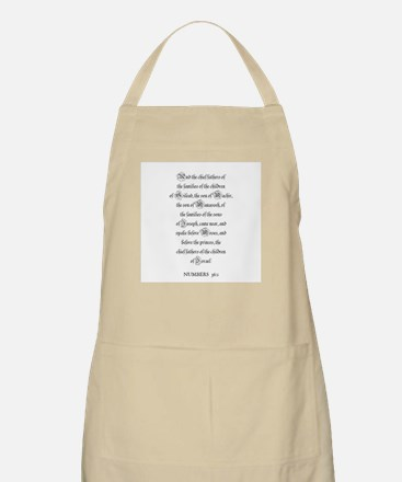 NUMBERS  36:1 BBQ Apron