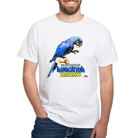 Hyacinth Macaw White T-Shirt