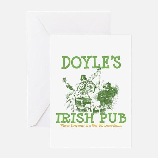 Doyle's Vintage Irish Pub Personalized Greeting Ca