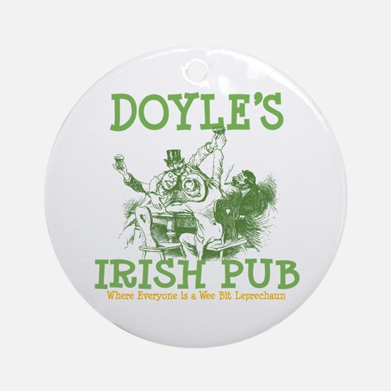 Doyle's Vintage Irish Pub Personalized Ornament (R