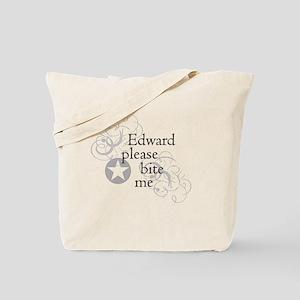 Edward please bite me Tote Bag