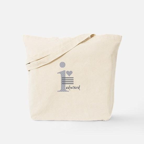 i heart Edward Tote Bag