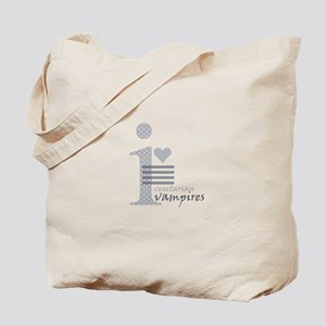 i heart vegetarian vampires Tote Bag