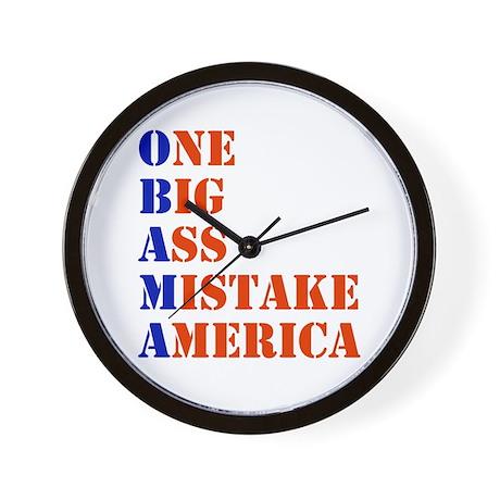 Obama: One Big Ass Mistake America Wall Clock