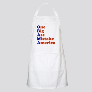 Obama: One Big Ass Mistake America BBQ Apron